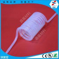 耐气压四氟弹簧管、铁氟龙伸缩管、聚四氟乙烯管螺旋管