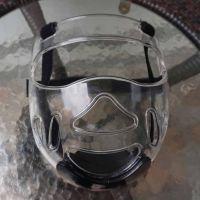 优魄正品跆拳道护具护脸护面透明防护面罩实战比赛用护头头盔结实