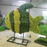 仿真绿雕用的什么材料? 北京绿琴定制 大型绿色植物雕塑 玻璃钢人造草皮装饰 造型可定制