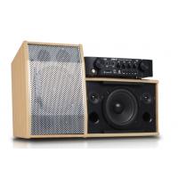狮乐家庭KTV音响套装 卡拉OK功放壁挂音箱 唱歌组合木质箱设备