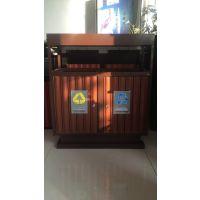 垃圾桶新款 新疆环卫果皮箱新品上市 昌吉塑木垃圾桶美观大方