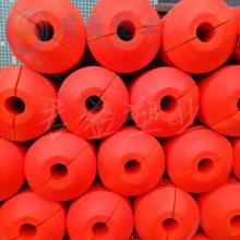 徐州耐撞击浮筒 直径400*500浮筒 通孔110mm浮筒加工