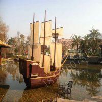光华厂家定制酒店公园摆饰海盗帆船