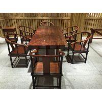 有家木业 巴花实木大板办公家具大班台书桌画案会议桌简约现代