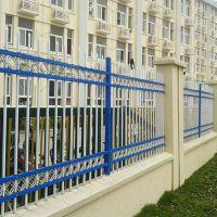 安亿腾锌钢围墙护栏镀锌喷塑蓝白隔离栏杆厂家直销支持定制