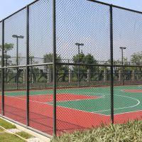 中山球场护栏网安装厂家 50*50墨绿色围网哪有批发 网柱现场焊接