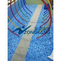 广东珠海不锈钢拼装式泳池价格/广州纵康过滤设备/组装式钢结构游泳池安装