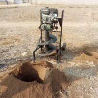 通化电线杆钻孔机 启航拖拉机后输出挖坑机 大棚埋桩打坑机价格