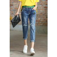 山西厂家库存夏季热卖女装牛仔裤现有大量女式小脚裤几元清货处理批发