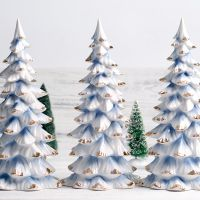 批发 创意家居陶瓷工艺品圣诞树 西式简约客厅摆件 欧式圣诞礼品