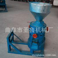 柴电两用碾米机 家用电谷子脱壳机 圣鲁立式脱皮碾米机
