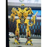 不锈钢彩绘雕塑机器人雕塑