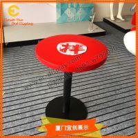 玻璃钢创意时尚桌椅 玻璃钢桌板 新型餐饮店铺装饰道具