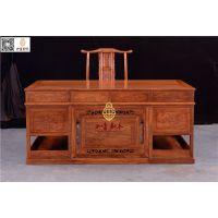 东阳红木书桌-古典仿古书桌-如金红木家具