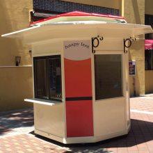 秦皇岛广场售货亭,晋城游乐园小卖部,景区售票亭定做酒桶