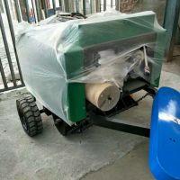 自动捡拾小麦秸秆打捆机厂家直销 内蒙古畜牧养殖业圆形捆草机视频