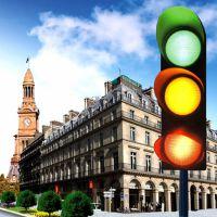鑫光道Ф300大功率 红黄绿满屏三单元 LED交通信号灯 红绿灯