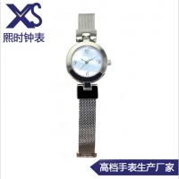 不锈钢网带手表 瑞士进口机芯手表 简约女士手表 50米防水手表女