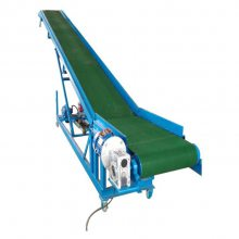 槽型爬坡带式输送机图片 兴亚物流装车伸缩皮带输送机