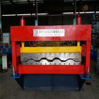 山东烟台地鑫客户订购集装箱出板机 镀锌瓦楞板生产设备