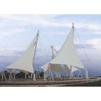 景点小区膜结构公园反吊景观膜伞PVDF园林张拉膜遮阳棚