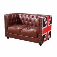 实木卡座沙发定做,白蜡木北欧风简约双人扶手沙发