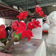园林景观玻璃钢仿真郁金香模型道具大型彩绘花朵雕塑树脂植物摆件奇美厂家定做