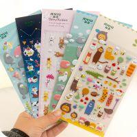 韩版创意可爱动物卡通立体DIY日记相册装饰贴纸 泡泡贴纸