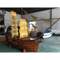 深圳欧式装饰木船 帆船装饰 竹泓手工木船定做 道具船