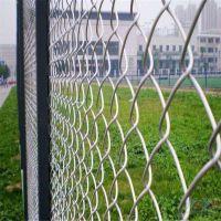 朋英 厂家销售 体育场铁丝护栏网 菱形勾花包塑围网
