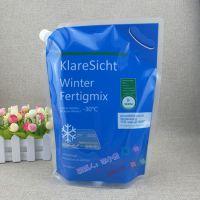 液体吸嘴袋生产厂家 3L冷却液玻璃水直立带嘴袋 2KG汽车润滑剂自立铝箔袋
