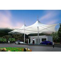 公园景观遮阳亭城市加油站膜结构PVDF公交站台顶棚