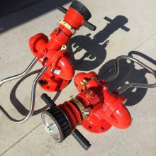 吉林厂家直销 国标防冻自泄式消防水炮PS80W 手动固定式流量可调喷雾直流两用炮 爱尔玛消防