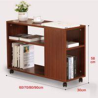 客厅创意实木茶几储物柜 现代简约实用边几桌子 带轮滑可自由移动