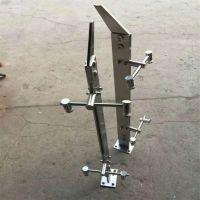 耀恒 供应机场商场钢化玻璃栏杆扶手不锈钢实心304工程立柱 牢固实用