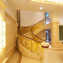 哈尔滨旋转楼梯护栏铝艺铝合金楼梯扶手