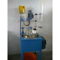 北京实验室乾正仪器20L双层玻璃反应釜厂家生产搅拌减压蒸馏多功能玻璃反应器