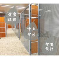 西安玻璃隔断办公室高隔断铝合金百叶窗成品双层钢化玻璃间屏风