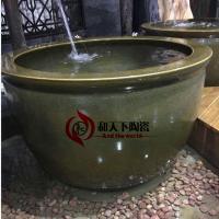 景德镇洗浴中心大缸 美容洗浴缸直径1米 1.1米陶瓷洗浴大缸