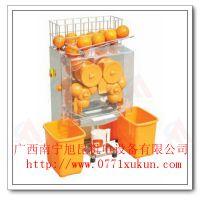 昆明榨橙汁机生产厂家 超市鲜橙榨汁机器