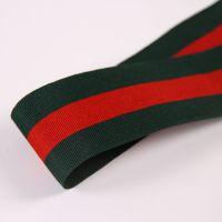 厂家直销三色红绿条纹织带 圣诞带 涤纶带 鞋服帽子装饰DIY服装辅料