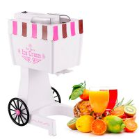 供应广东DIYU新款全自动软冰淇淋机 厂家批发电动家庭自制冰淇淋小机器 果味牛奶雪糕机 冰淇淋制作