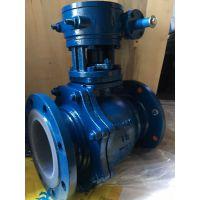涡轮衬氟球阀-模压工艺使用温度160度-衬氟球阀Q41F46-亿宏阀门品质保证