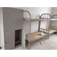 卖铁床的 公寓床 合肥员工宿舍床 带书桌的床 工人双层床
