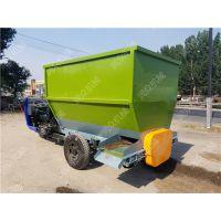 牛场养殖撒料车 柴油三轮投料车 喂料设备