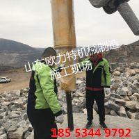 黑龙江绥化矿山开采专用设备欧力特大型岩石劈裂机的工作原理