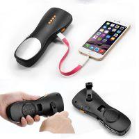 现货多功能手摇手电筒收音机 USB充电手摇发电手电筒 强光手电