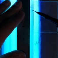 大熊牌PET胶片折盒圆筒手工糊口紫外线UV无影胶
