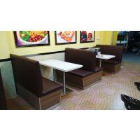 龙华厂家订做茶餐厅成套家具 防火板餐桌椅 两人位餐桌椅组