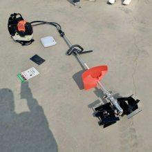 小型汽油松土机操作视频 背负式大棚松土机 便携式汽油除草机